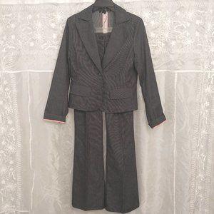 Charcoal Pinstripe Denim Pantsuit, 6